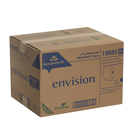 GP Envision® White 2-Ply Embossed Bathroom Tissue Image